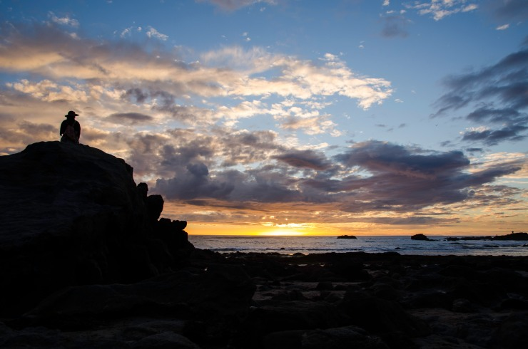 The Soditude of a sunset at lands end